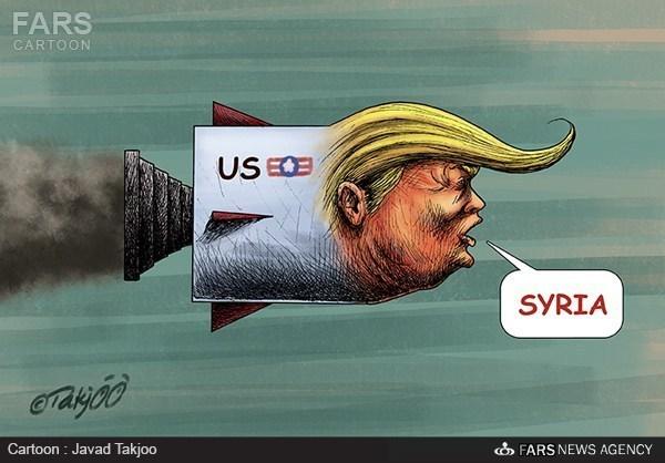 هجوم ترامب على سوريا