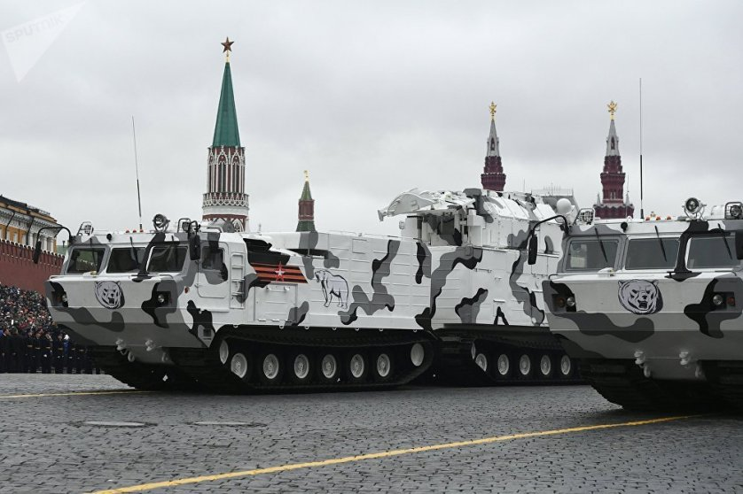 Tor-M2DT at the military parade in Moscow marking the 72nd anniversary of the victory in the Great Patriotic War of 1941-1945.