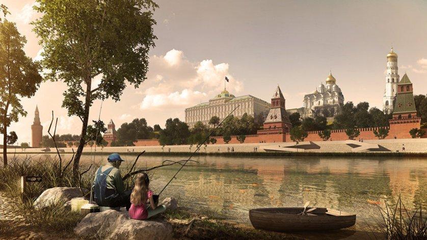 "Проект Москвы-реки архитектурого бюро ""Меганом"""