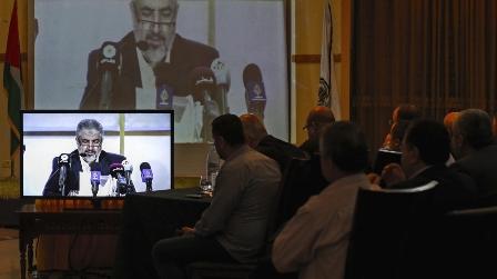 Халед Машааль представляет новую политическую платформу ХАМАС.