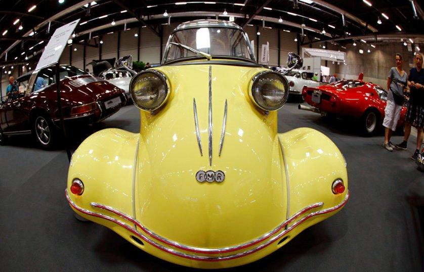 Автомобиль Messerschmitt Tiger FMR TG 500 1958 года на выставке можно было приобрести за 147 тысяч долларов.