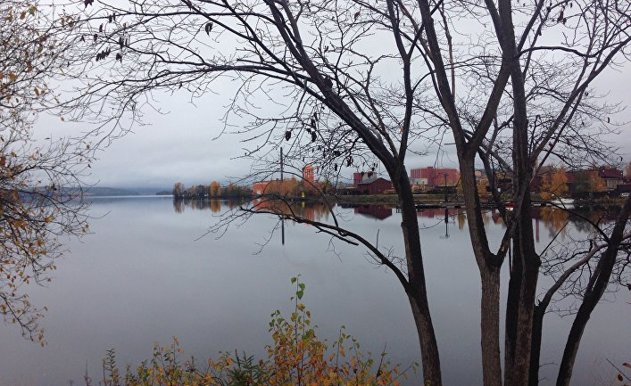 Вид на шведский город Лудвика