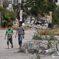 Жизнь в освобожденном от боевиков квартале Кабун в пригороде Дамаска