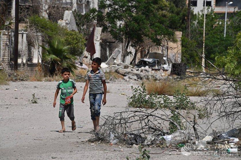 Сирийская армия активно уничтожала огневые позиции боевиков, с которых они обстреливали жилые кварталы сирийской столицы.