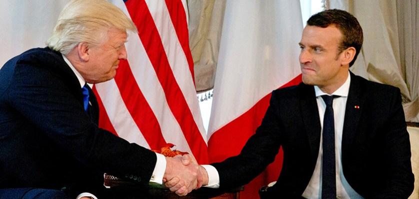 Bloomberg (США): рукопожатие Макрона компенсировало Трампу холод Брюсселя