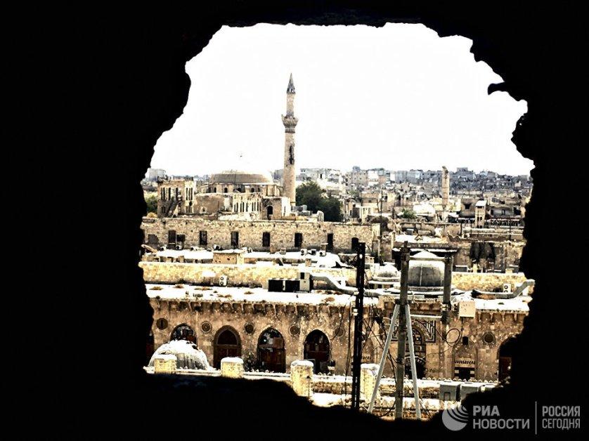 Историческая часть города Алеппо. Сирия, 03.09.2016.