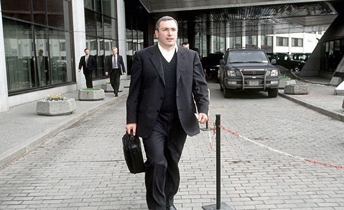 Председатель ООО «Юкос-Москва» Михаил Ходорковский, 2001 год