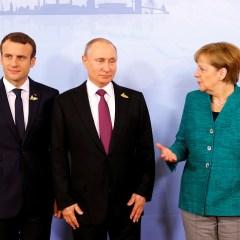 Путин, Меркель и Макрон обсудили ситуацию на Украине и пути ее урегулирования