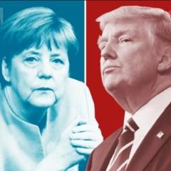 Канцлер Германии бежит впереди американского «паровоза»
