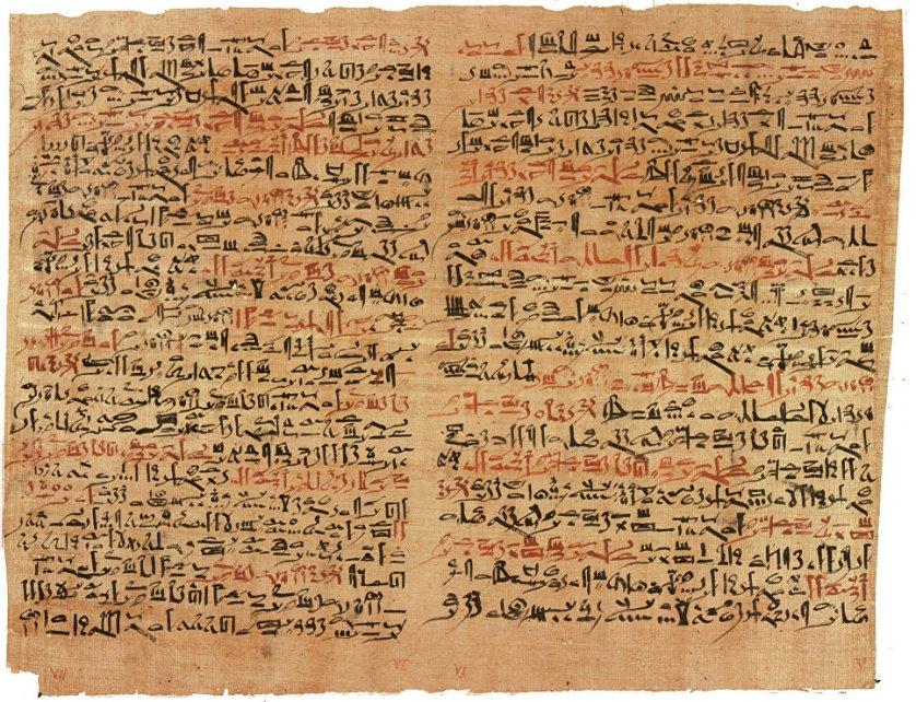 Фрагменты из папируса Эдвина Смита. Нью-Йоркская академия медицины