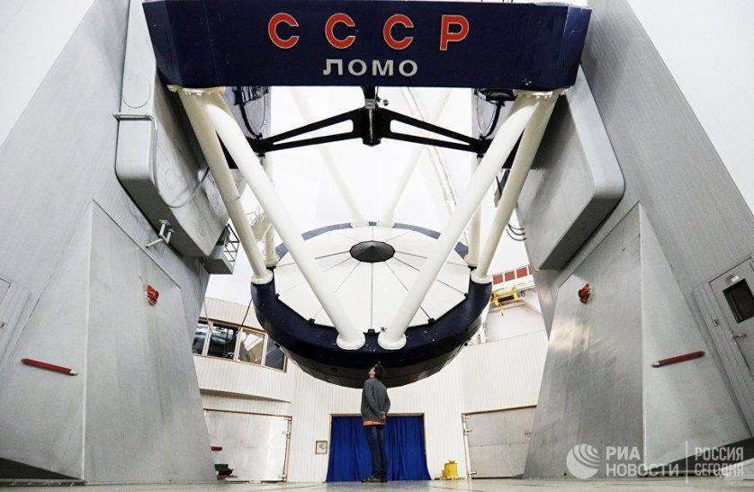 Это крупнейший в России астрономический центр наземных наблюдений объектов Вселенной. На фото: оптический телескоп БТА.