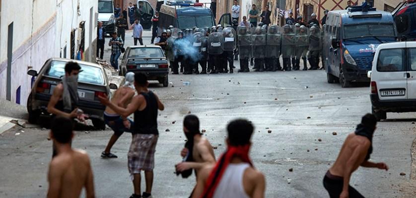 Столкновения между полицией и демонстрантами в провинции Риф, Марокко