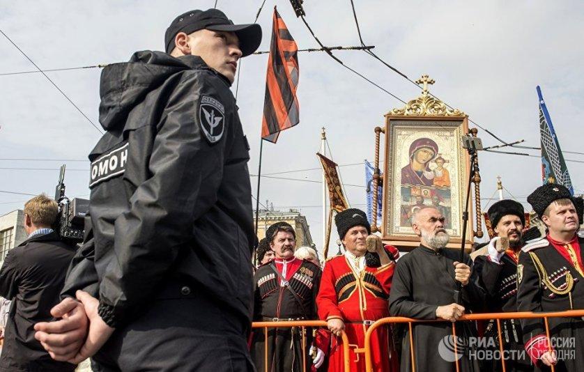 Согласно данным регионального ГУМВД, крестный ход прошел без нарушений общественного порядка.