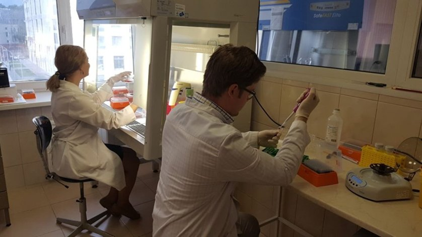 В лаборатории новых лекарственных форм Центра RASA на базе Национального исследовательского Томского политехнического университета