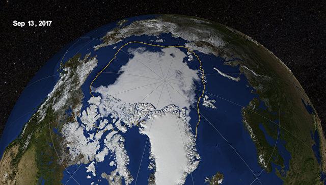 Сокращение льдов Арктики летом достигло рекордных значений
