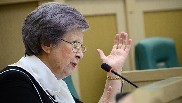 Сенатор Горячева возмутилась «сверхвысокими» ценами в столовой Совфеда