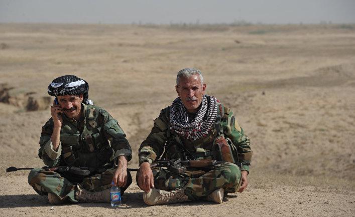 Бойцы курдской пешмерга.