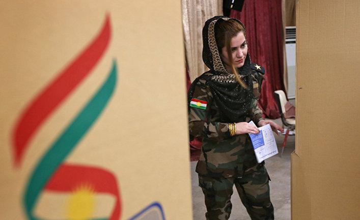 25 сентября 2017. Референдум о независимости Курдистана на избирательном участке в Арбиле.
