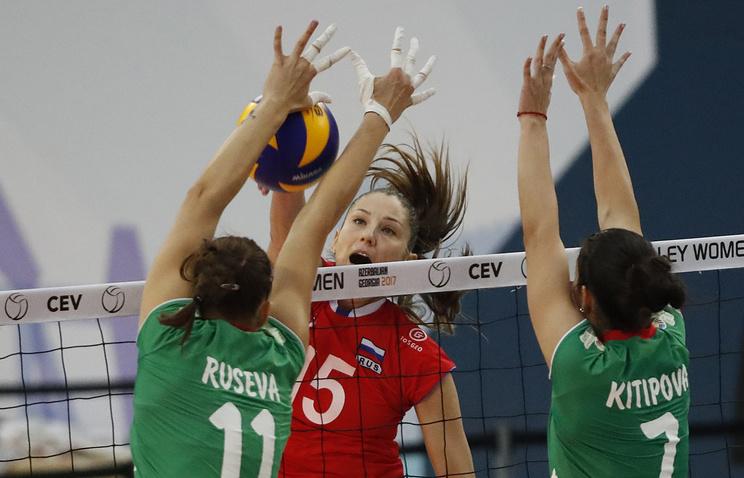 Российские волейболистки обыграли команду Болгарии и вышли в четвертьфинал ЧЕ