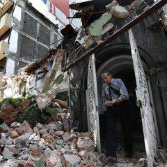 دمار كبير بعد الزلزال الذي ضرب  وسط المكسيك