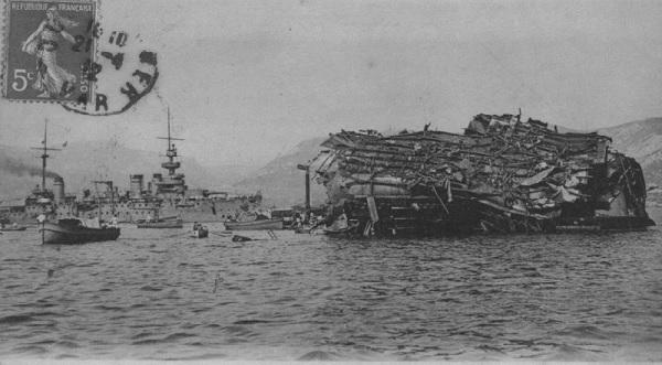 Этот день в истории: 25 сентября 1911 года  — гибель броненосца «Либертэ» в Тулоне