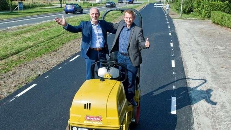 هولندا تدور النفايات لتعبيد الطرق!
