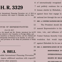 U.S sanctions against Hezbollah (H.R.3342 – H.R.3329)