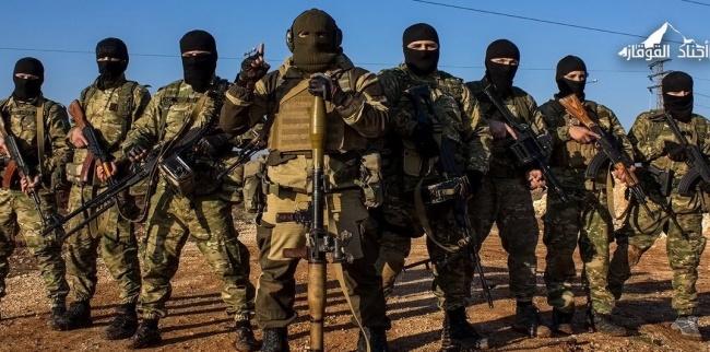 Рекламная фотография чеченской группировки «Аджнад аль-Кавказ».