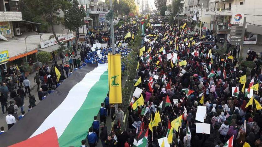 بالصور: مسيرة حاشدة في ضاحية بيروت نصرة للقدس