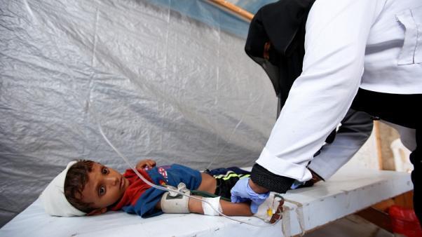 منظمة: وباء الكوليرا في اليمن سيتفاقم على الأرجح في الشهور المقبلة