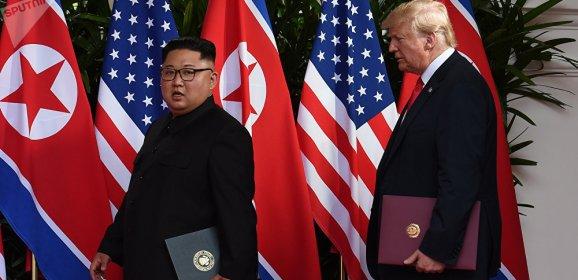 """وثيقة """"ترامب وكيم"""" تلزم بالعمل على نزع السلاح النووي بالكامل من شبه الجزيرة الكورية"""
