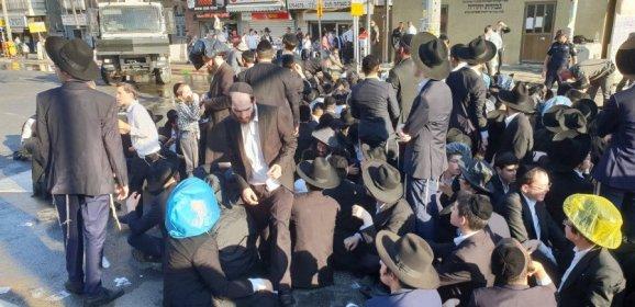"""مواجهات بين الـ""""حريديم"""" والشرطة شرقي تل أبيب"""