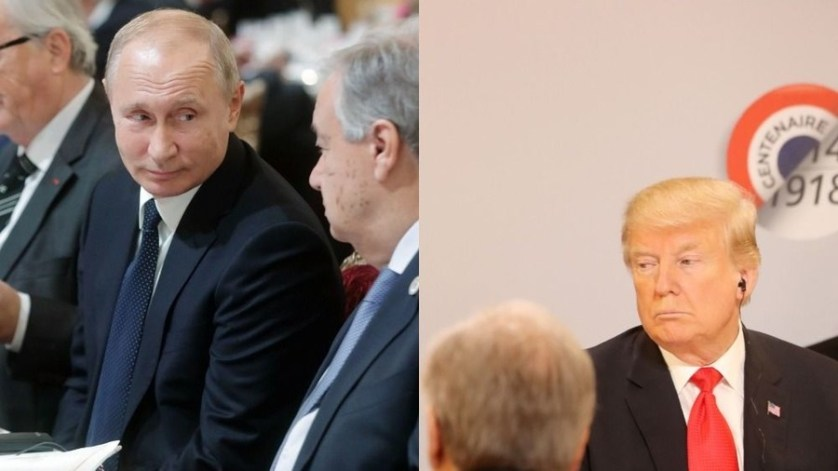 Putin says he DID talk with Trump despite last-minute Elysee seating change