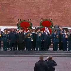 العرض العسكري في الساحة الحمراء بموسكو بمناسبة عيد النصر على النازية