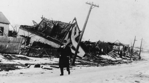 100 лет назад одним взрывом разрушен горо