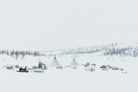 The Nenets homestay in winter