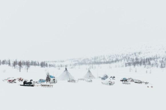 The Nenets homestay in winter