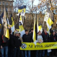 Fascists come to Russia to rally against...fascism?