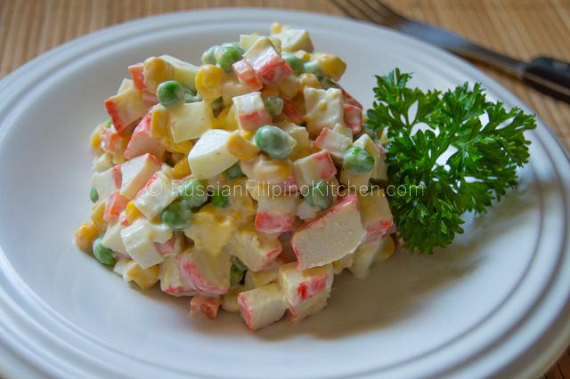 Russian Crab And Corn Salad