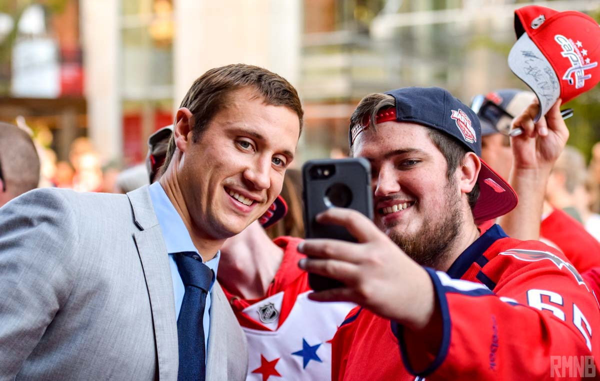 Jay Beagle poses for a selfie