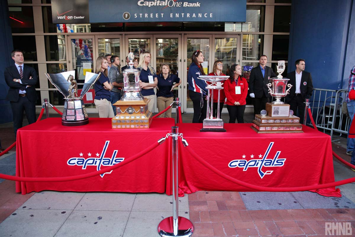 The Rocket Richard, Vezina, President's, and Jack Adam's trophies