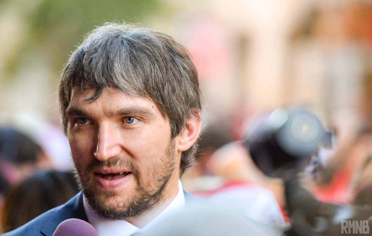Capitals captain Alex Ovechkin arrives