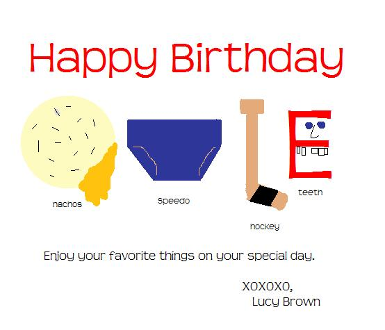 Ovi Birthday Card via Lucy Brown