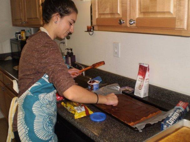 Adding the icing