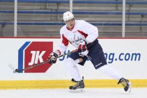 Ovi skates Tuesday at Kettler Capitals Iceplex (Photo credit: Chris Gordon)