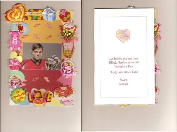 Braden Holtby's Valentine Card
