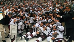 The 2009-10 Hershey Bears celebrate back-to-back championships and their 11th in Franchise history. (Photo by Kyle M.)