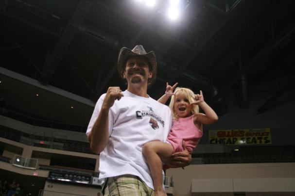 Bryan Helmer with his daughter