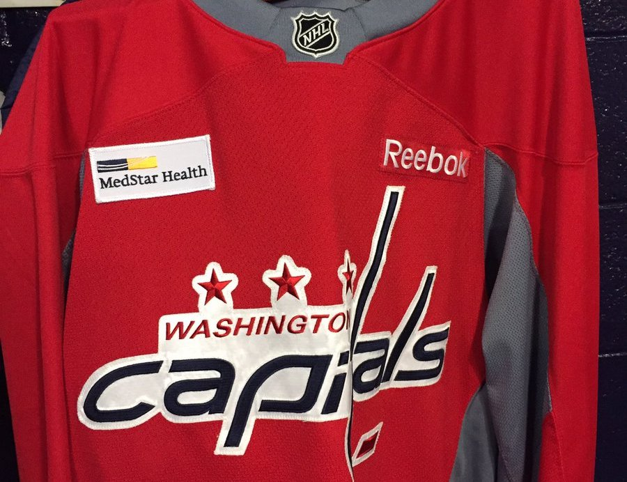30442d0bb04 top quality the washington capitals have ads on their practice jerseys now  1c44c d3e2d