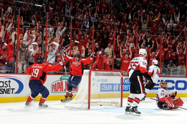 Alex Ovechkin scores the OT Game-Winner Against the Sens. Verizon Center Erupts in Joy.